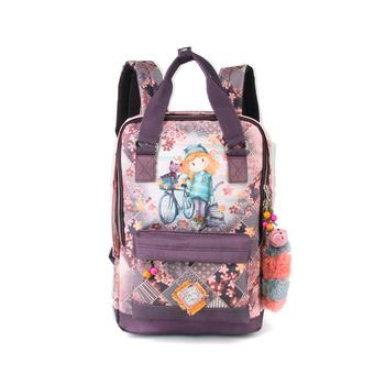 Portable backpack Forever Ninette fun Bicycle 40x28x11cm free shipping