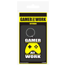 Keychain rubber Gamer at Work Gaming