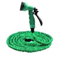 Venta caliente 25FT-200FT manguera de jardín extensible magia Flexible manguera de agua de manguera EU tubo de mangueras de plástico con Spray pistola riego