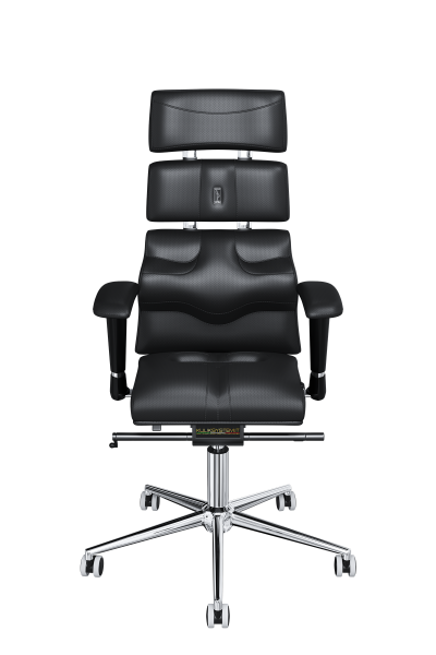 Office Chair KULIK SYSTEM PYRAMID Black Computer Chair Relief And Comfort For The Back 5 Zones Control Spine