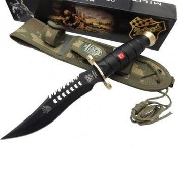 Halmak Wolf Model Commando Black Knife pocket folding knife self defense weapons knives survival fixed blade knife tactical knif 1