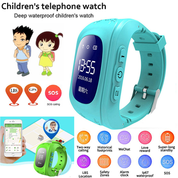 Child Watch Children Smart Watch Kids Waterproof GPS SOS Anti-lost Smartwatch Baby 2G SIM Card Clock Call Tracker Watch