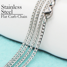 20 pcs -- Stainless Steel Chain Necklace, Flat Curb Chain, Necklace No Tarnish