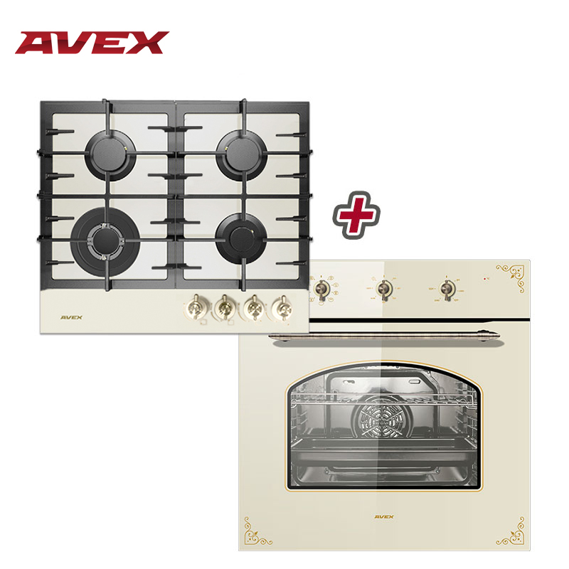 Set The Cooktop AVEX HM 6042 RY And  Electric Oven AVEX RYM 6090 F Household Home Appliances For The Kitchen Electric Oven Cooki