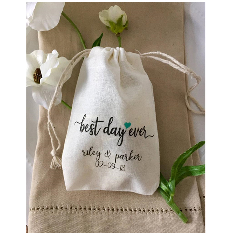 Best Day Ever Bag Personalized Birthday Party Gift Bag Wedding Favor Bags Welcome Drawstring Bags Treat Bag Bachelorette Gift