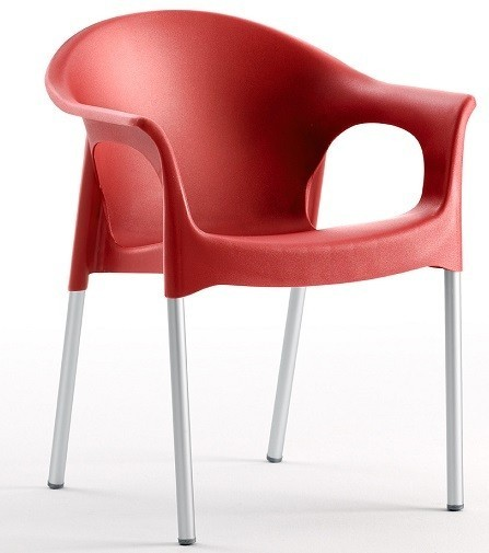 Armchair NILE Aluminum Stackable Polypropylene Network *
