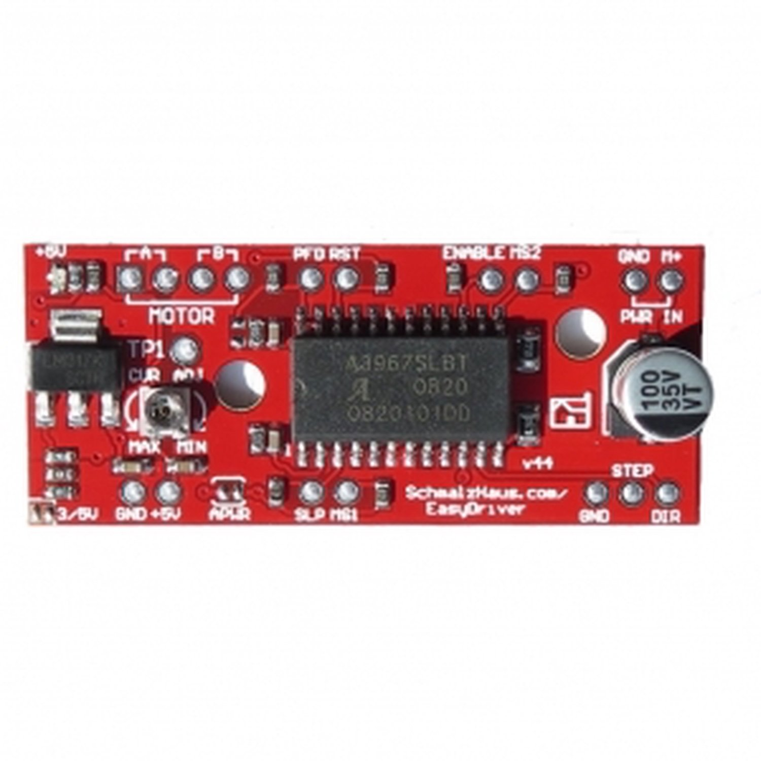 A3967 V44 EasyDriver Stepper Engine Driver Development Board-arduino compatible rumba motherboard drv8825 a4988 stepper motor driver 12864 lcd display 4015 fan jumper wire for reprap 3d printer parts
