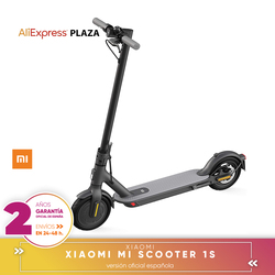 [Official Spanish guarantee version] Xiaomi Mi Scooter 1s electric Scooter, 30km, power 300W, folding New Original