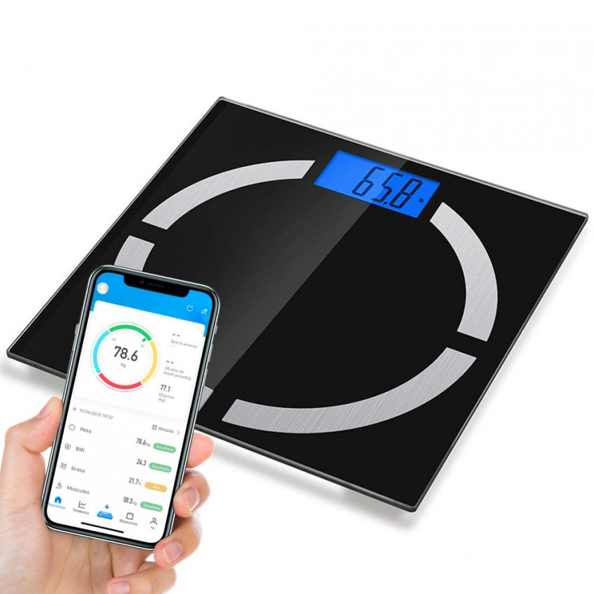 Bathroom scale Bluetooth Smart with APP Up To 8 Profiles 7hSevenOn Home