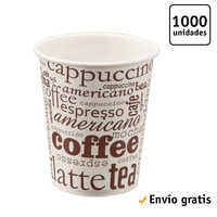 TELEVASO-1000 pc-Glass de paperboard for coffee Vending-Disposable and recyclable-Ideal for Beverages hot like coffee, tea