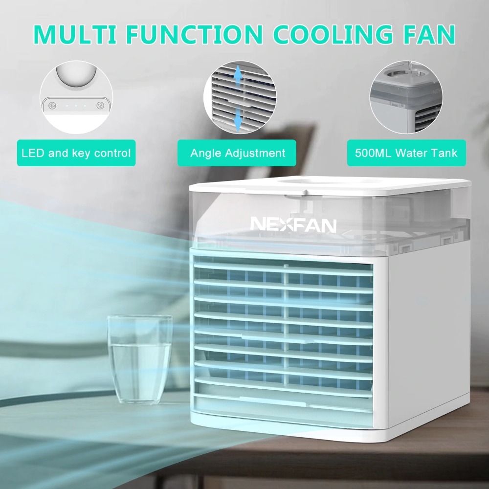 NexFan Ultra Air Cooler Fast Cooling Air Conditioner Portable Cooling Fan Oil Diffuser for Office Travel Mini Fan UV & Standard10