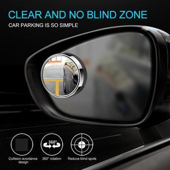 Blind spot mirror lusterko samochodowe akcesoria lusterko samochodowe do obszarów niewidomych lusterko samochodowe strefa niewidomych lusterko samochodowe do obszarów niewidomych lusterko samochodowe tanie i dobre opinie OUIO CN (pochodzenie) car mirror Silver glass + plastic Mirror diameter 5cm 1 96in Outer diameter 5 5cm 2 16in Rear view mirror