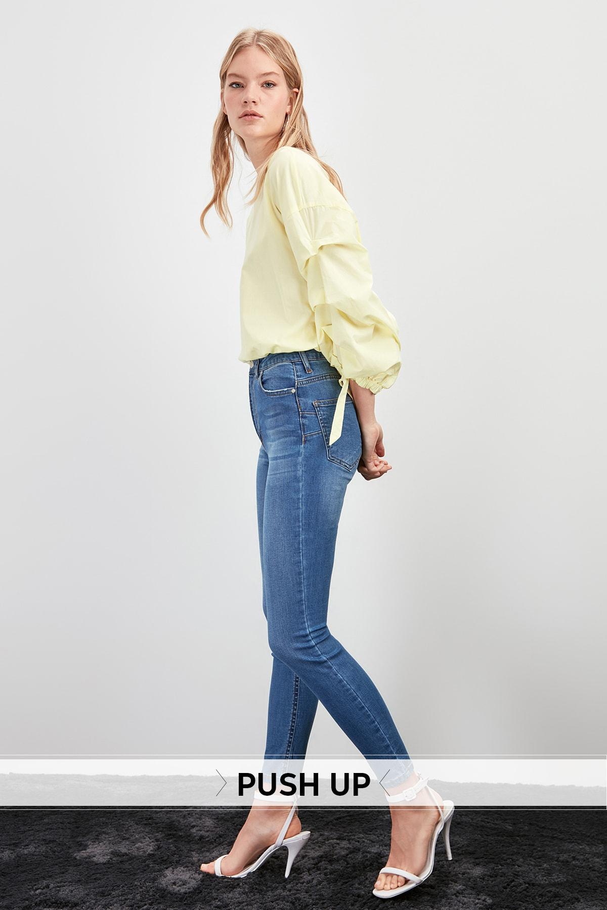 Trendyol High Waist Push Up Skinny Jeans TWOAW20JE0291