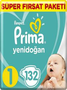 PAMPERS Baby-Diaper Disposable Newborn No:1 132pcs Nappy Toilet-Training Swaddlers Hypoallergenic