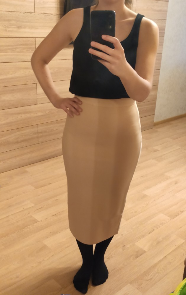 New Fashion 8 Colors Plus Size Xl Xxl Sexy Knee Length Bandage Skirt Women Elastic Bodycon Summer Pencil Skirts 78Cm photo review