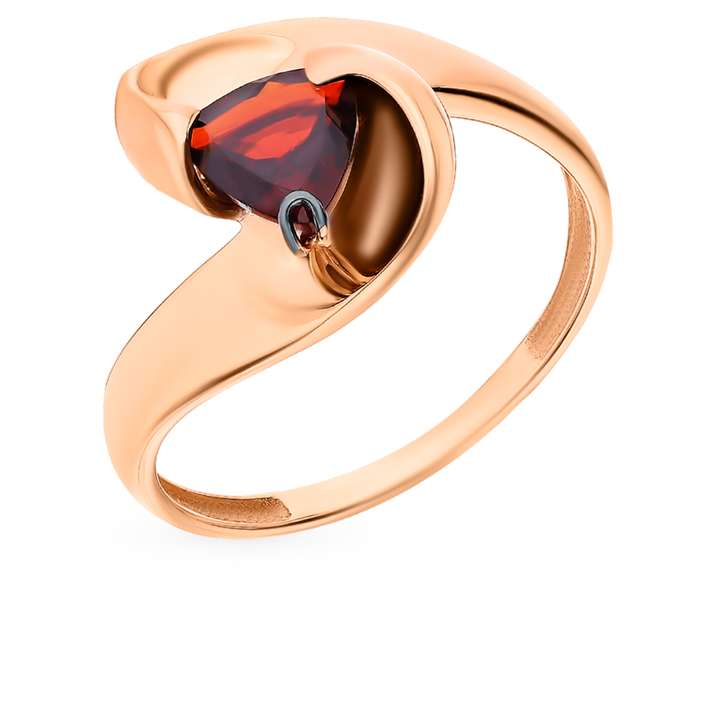 Gold Ring With Garnet Sunlight Sample 585