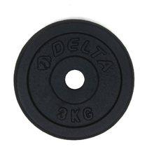 2 pesos do disco do haltere dos pces 3 kg para o equipamento crossfit do levantamento de peso da aptidão barbell do exercício da força do músculo do gym