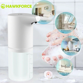350ML Touchless Automatic Soap Dispenser USB Charging Smart Foam Machine Infrared Sensor Foam Soap Dispenser Hand Sanitizer 1