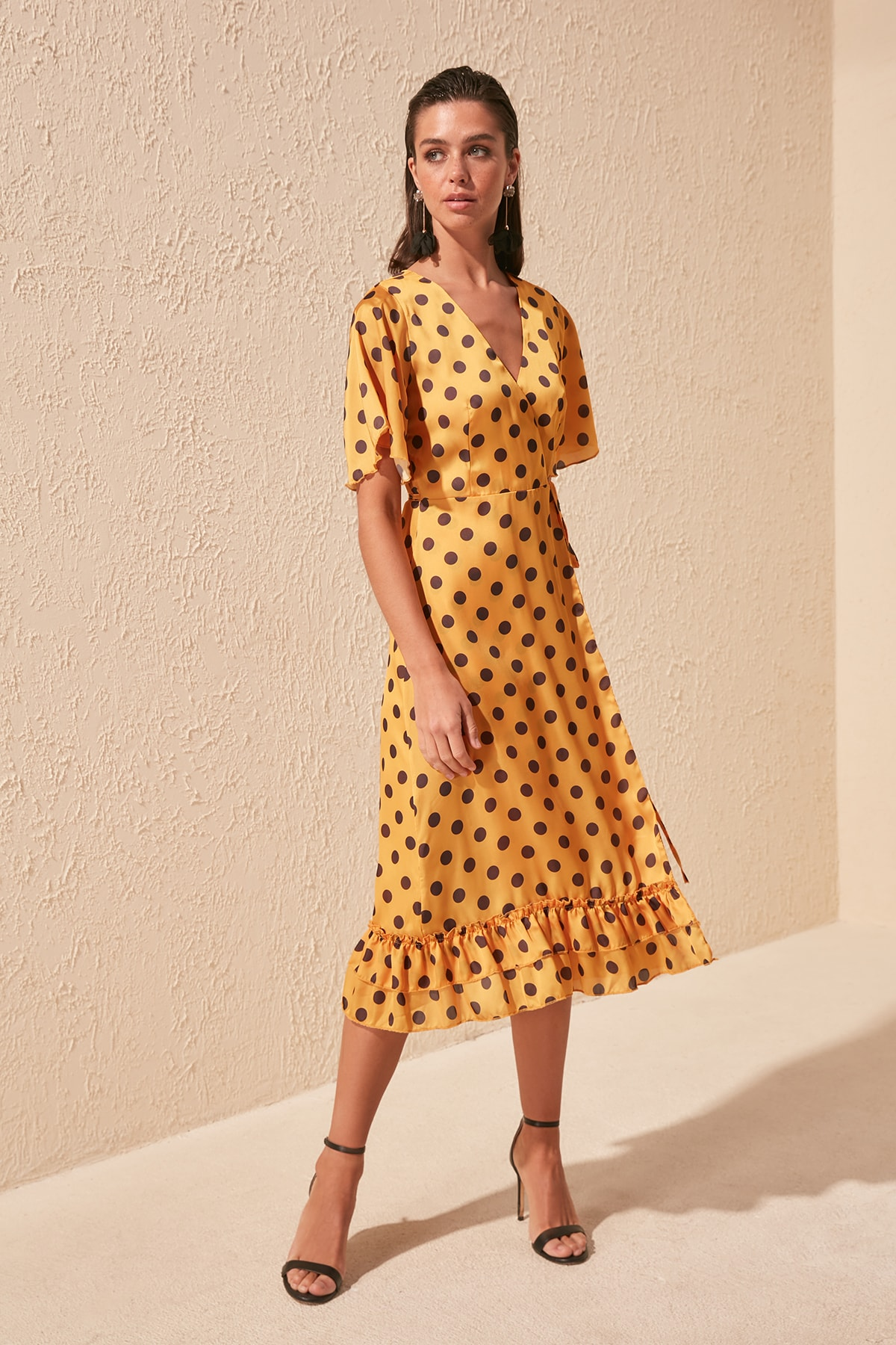 Trendyol Polka Dot Printed Wraped Dress TPRSS20EL0772