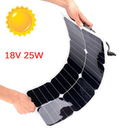 18V 25W Solar Panel Solar Cells Poly Solar Panel Battery Controller for Motorhome Car Yacht RV Boat
