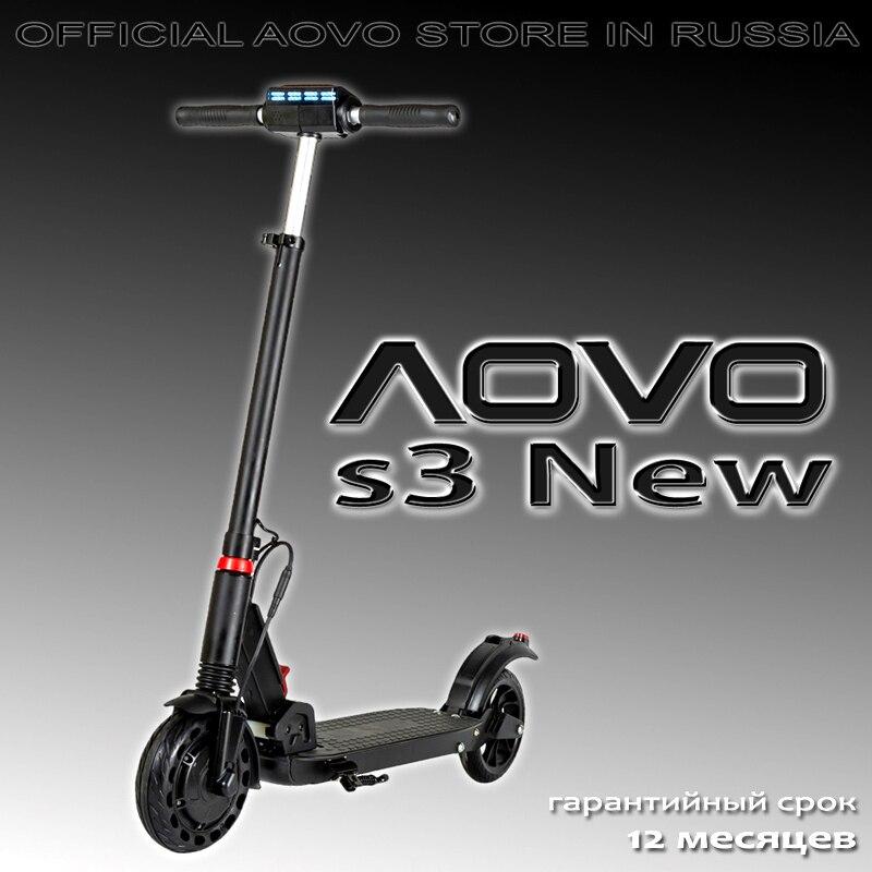 [Московский склад фабрики AOVO] Электросамокат AOVO s3 New original electric scooter for USA & EC с мощной аквазащитой iP(65)