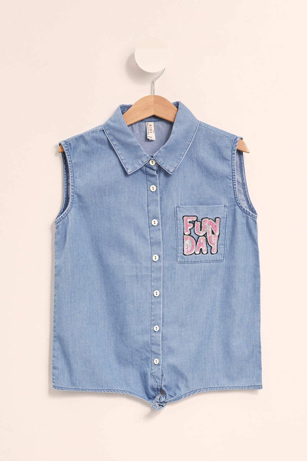 DeFacto chemise en Denim sans manches pour filles   Chemise décontractée et confortable pour enfants, à la mode, chemise en Jean pour filles, et nouvelle collection