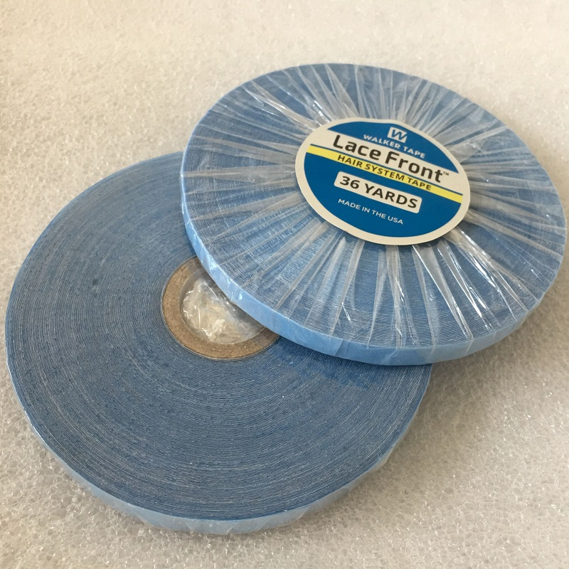 1 Roll 0.8 Cm Wide 36 Yards Blue Lace Front Tape Strong Lace Adhesive Tape For Lace Wig Toupee