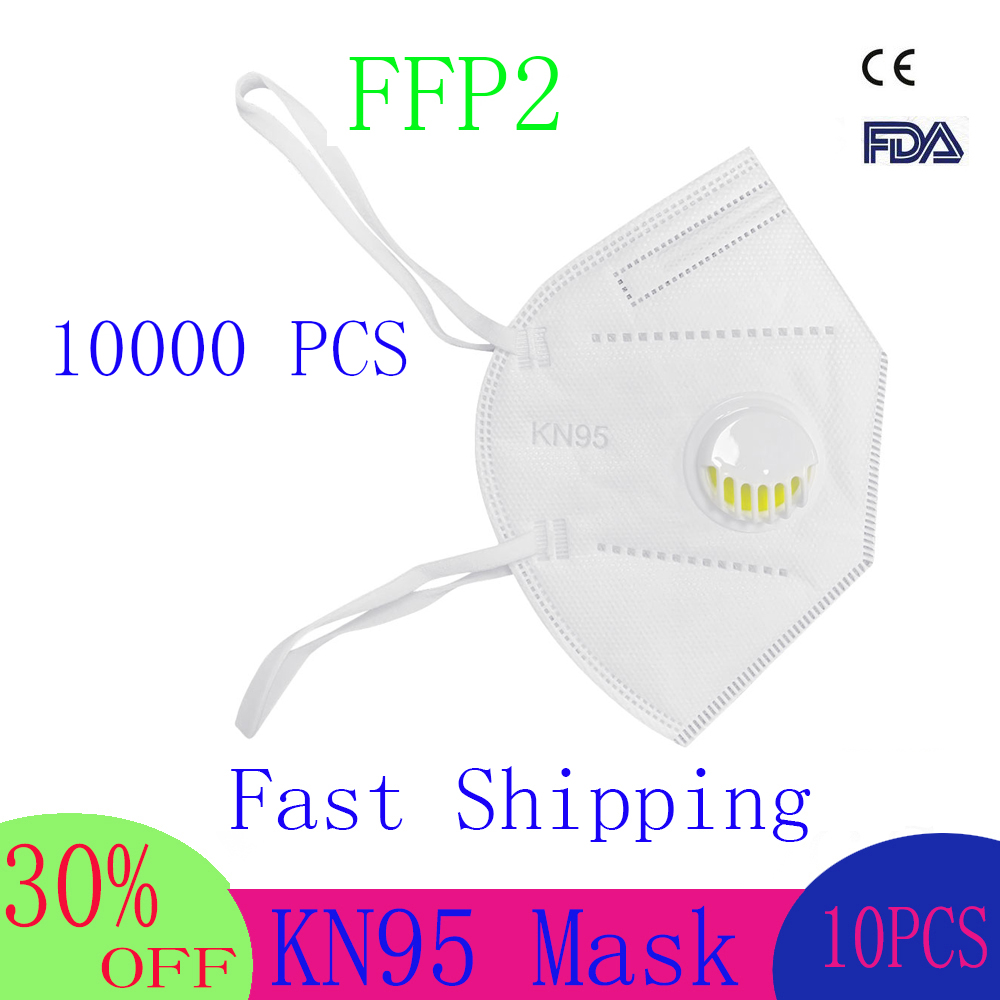 New Reusable KN95 Mask - Valved Face Mask N95 Protection Face Mask FFP1 FFP2 FFP3 Mouth Cover Pm2.5 Dust Masks 6 Layers Filter