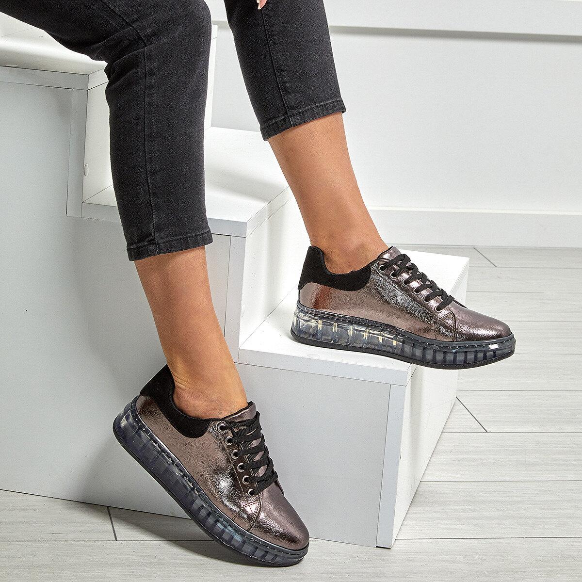 Zapatillas de deporte FLO para mujer, nuevas zapatillas de plataforma para mujer, zapatillas informales transpirables para mujer, moda BUTIGO SKYLAND gris SANDALIAS ARMONIAS PLATAFORMA