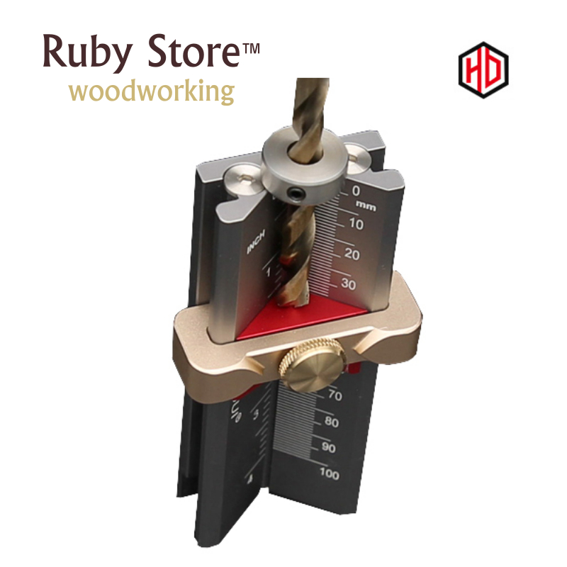 Multifunctional Depth And Height Gauge, Drill Stop + Drill Point Angle, HONGDUI, Woodworking