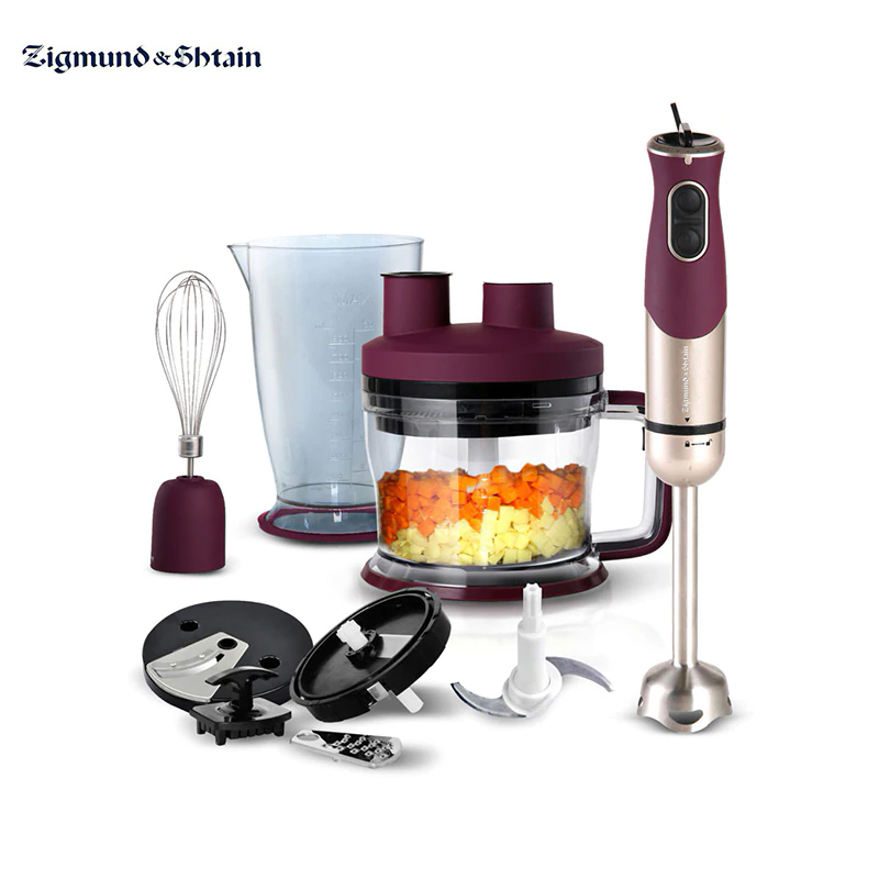Blender Submersible Zigmund & Shtain BH-339 M Immersion With Wisk With Chopper Appliances For Kitchen Smoothies Shredder Machine