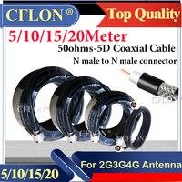 Cable Coaxial RGB6 para repetidor de señal potenciador y antena, 5/10/15/20 metros, 50 ohm-5d