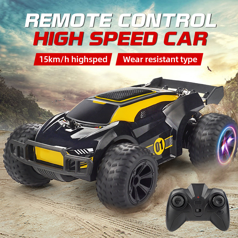 High-Speed Car Drift RC Climbing Off-Road 2.4G Multi-Terrain Driving Model Lighting Electric Remote Control Toy Play 30mins Car