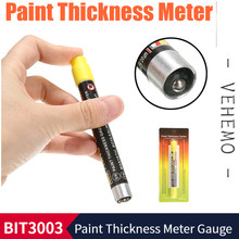 Paint Thickness Meter Gauge Car BIT 3003 CRASH-TEST CHECK Test Coating Lacquer Tester With Magnetic Tip Scale Indicate(China)