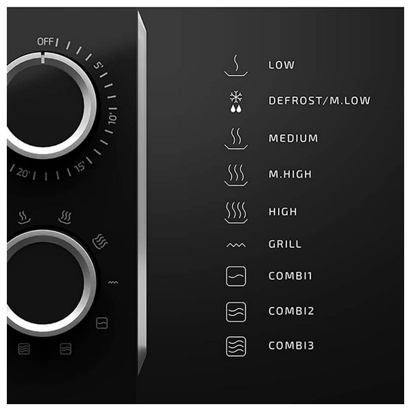 Microwave with Grill Cecotec ProClean 3150 20 L 700W Black Silver