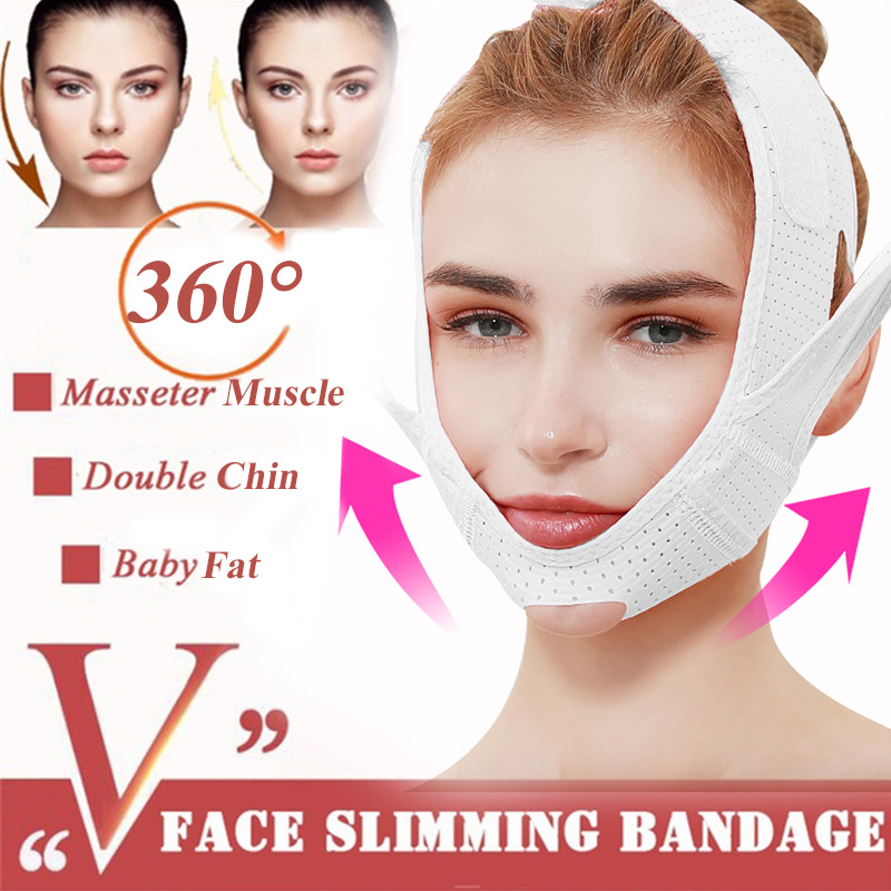 Breathable V Face Lifting Mask Adjustable Cheek Lift Up Band Face Thin Mask Reduce Double Chin Bandage Anti Wrinkle Tension Belt