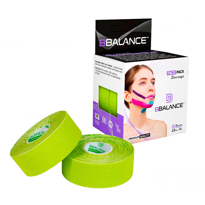Kinesio Take Facial Bbalance Face Pack (2,5 Cm * 5 M) Lime