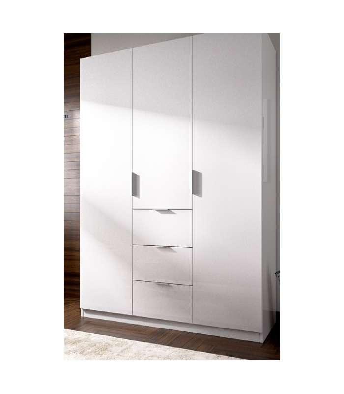 Wardrobe Closet Folding Doors White 135 Cm Wide