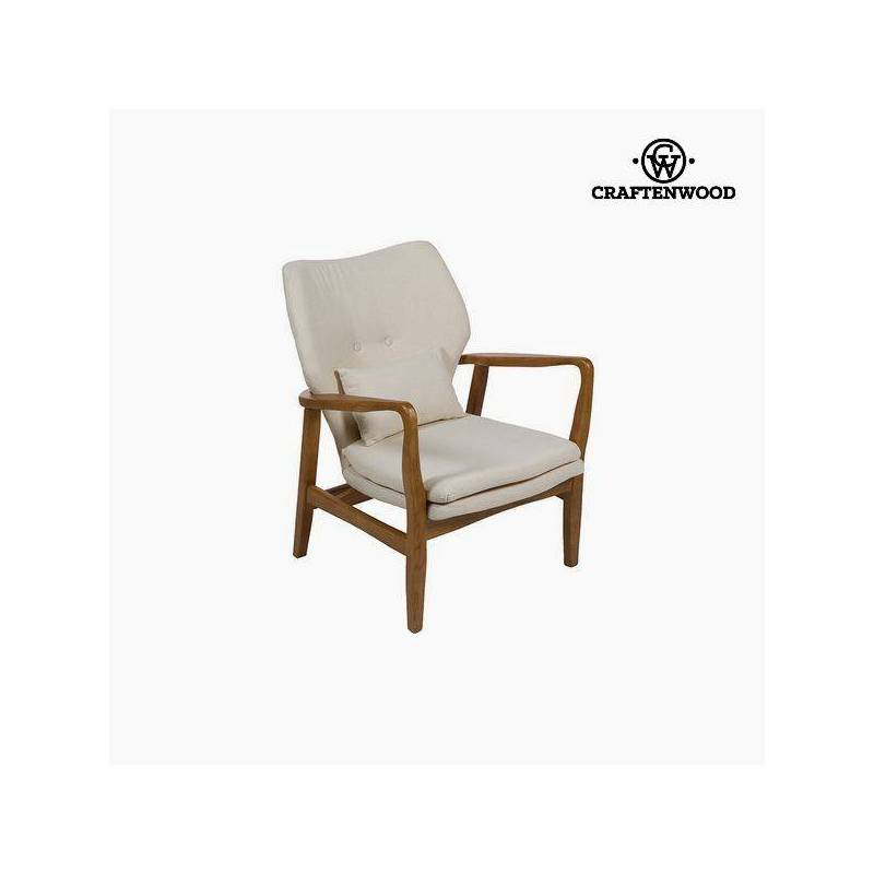 Chair Elm Wood Beige (88x53x54 Cm) Per Craftenwood