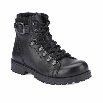 FLO SARDONE skórzane czarne męskie buty dziecięce KINETIX tanie i dobre opinie Płótno Korka Chłopcy