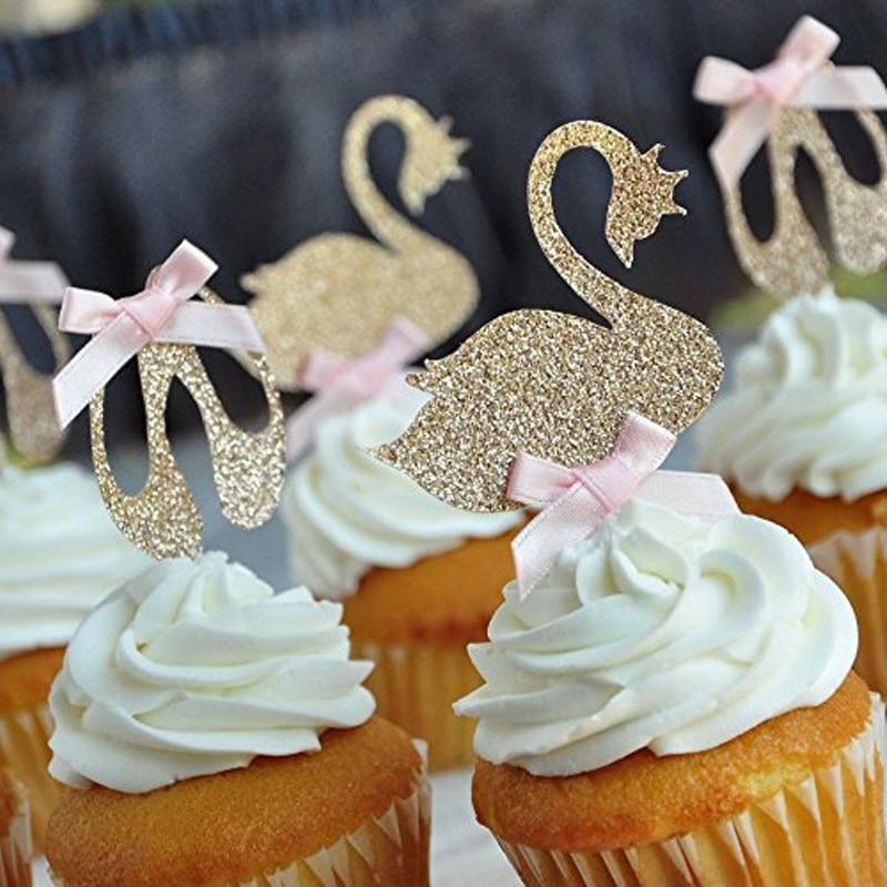 Лебедь, озеро, кекс, балерина, кекс, лебедь, кекс, товары для дня рождения