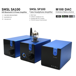 SMSL M100+SP100+SA100 Audio DAC USB AK4452 Hifi dac Decoder DSD512 XMOS XU208 TUBE Headphone Amplifier Optical Coaxial Input