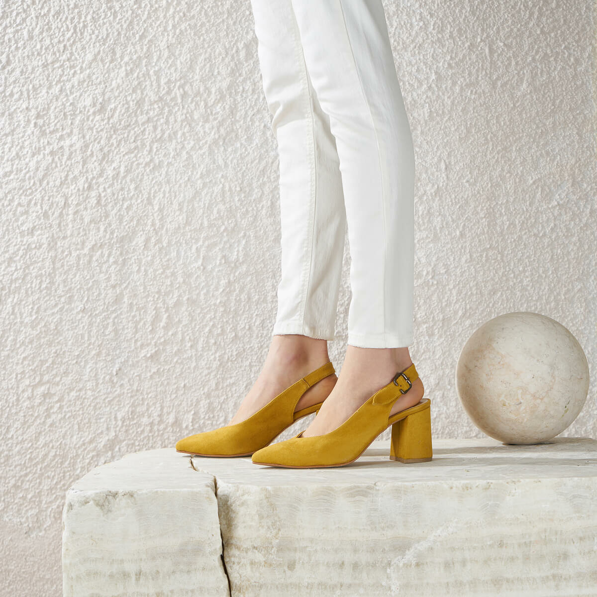 FLO MAY 50Z Mustard Women Shoes BUTIGO
