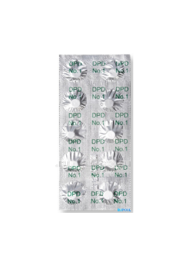 Chemistry For Swimming Pool, Lovibond Tablets For Tester DPD 1 (p), 10 Tablets, Item No. 01424