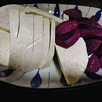香芋紫薯奶酪挞#百变鲜锋料理#的做法图解1