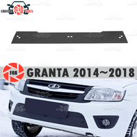 Winter radiator cap for Lada Granta Liftback 2014~2018 plastic ABS embossed cover bumper car styling accessories decoration