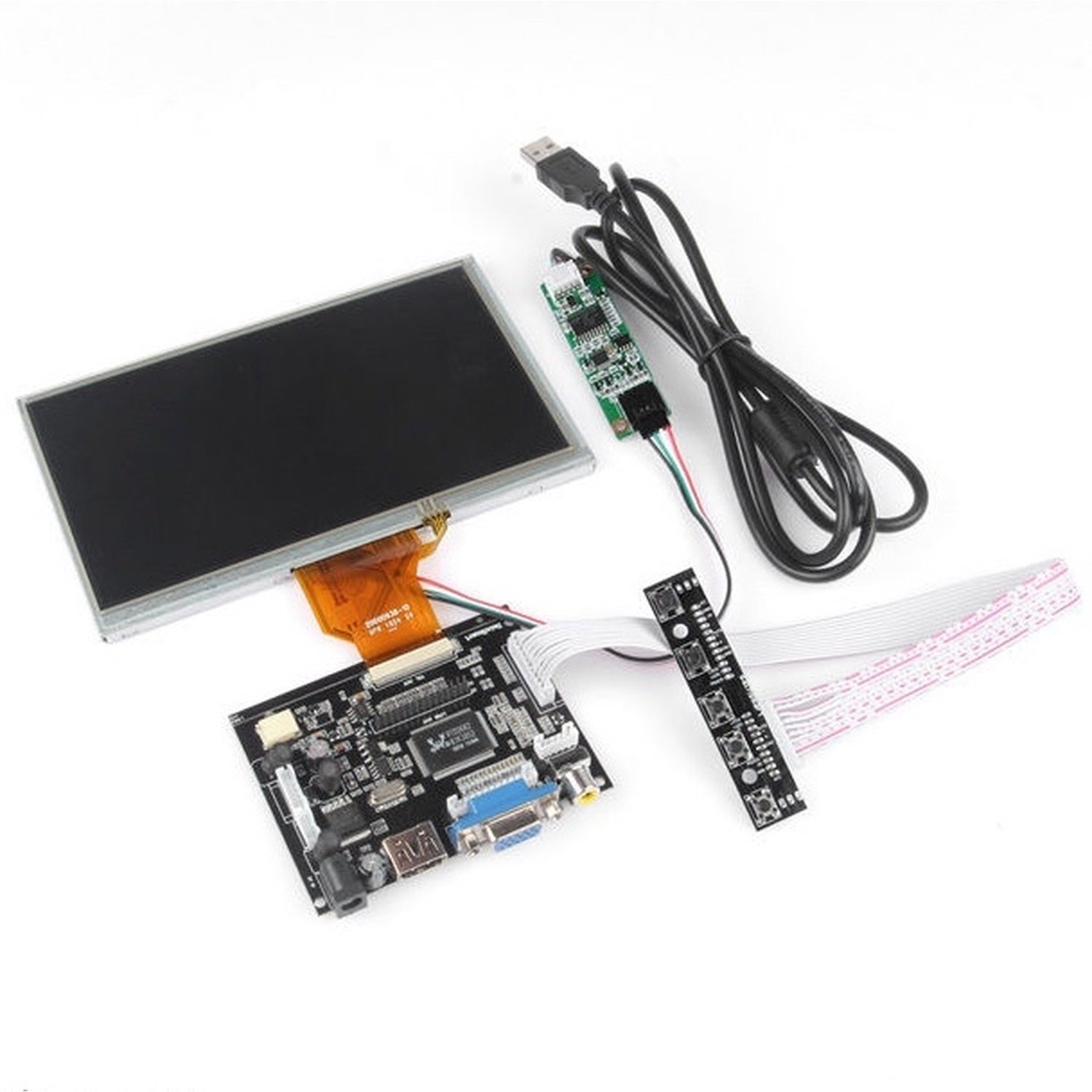 7 Inch TFT LCD Display For Raspberry Pi Touch Screen + Driver Board HDMI VGA 2AV 4 3 lcd screen 2av vga driver board at043tn24 34 7m 40pin lcd screen