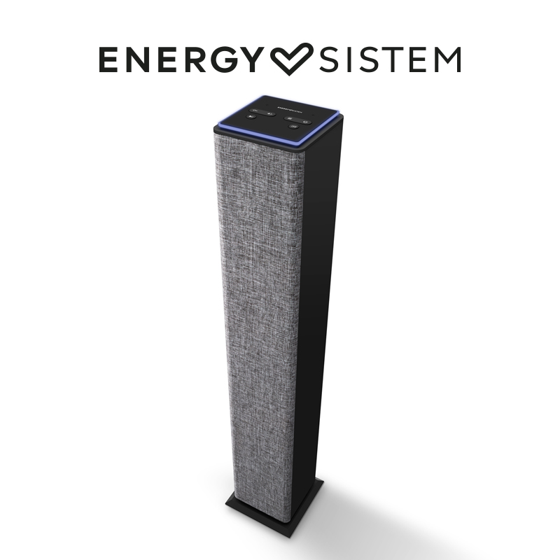 Energy Sistem Tower 2 Style Bangkok design speaker with Bluetooth (25 W, portable MP3 player USB/MicroSD, FM Radio, Line-In) -Gray