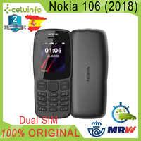 Radio FM d'origine Nokia 106, Version Pean, double SIM, clés super, noir, neuf, 2 ans de garantie envoyé d'espagne