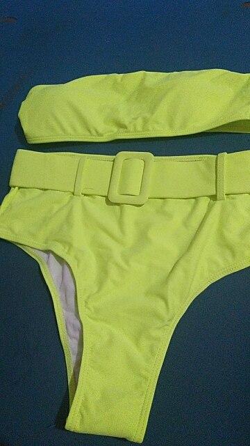 High Waist Bikini 2020 Sexy Black Swimwear Women Swimsuit High Leg Bandeau Bikinis Set Swimming for Bathing Suit Woman Swimsuits|Bikini Set|   - AliExpress